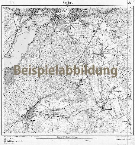Historisches Messtischblatt Perleberg und Umgebung 1919