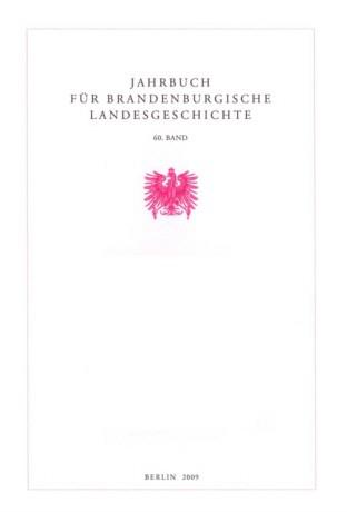 Jahrbuch für brandenburgische Landesgeschichte - Band 60