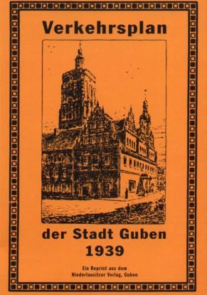 Verkehrsplan der Stadt Guben 1939