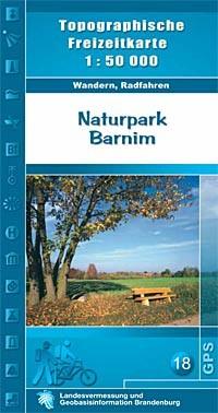 Topografische Freizeitkarte Naturpark Barnim