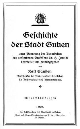 Geschichte der Stadt Guben