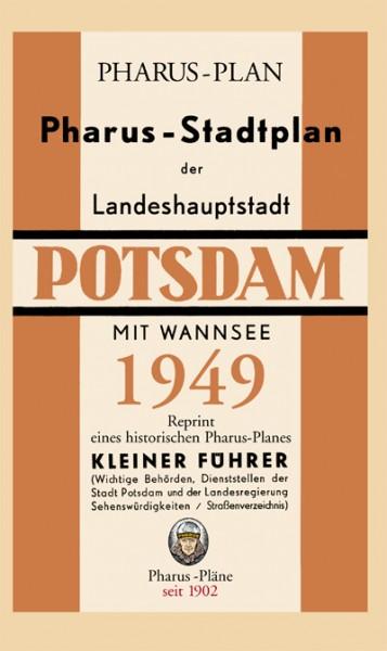 Pharus-Plan der Landeshauptstadt Potsdam mit Wannsee 1949