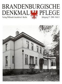 Brandenburgische Denkmalpflege 2008 - Heft 1