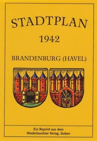 Stadtplan Brandenburg / Havel 1942