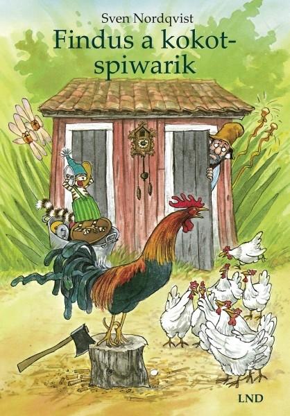 """Cover des Kinderbuches """"Findus und der Hahn im Korb"""" auf niedersorbisch"""