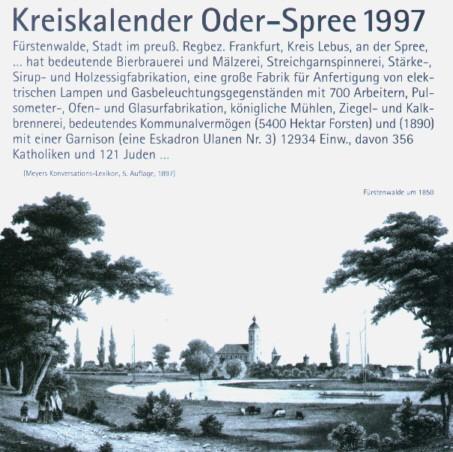 Kreiskalender Oder-Spree 1997