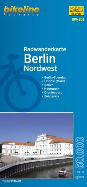 Radwanderkarte Berlin Nordwest und Umland 1:60 000