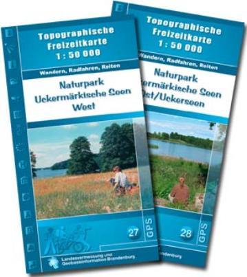 Karten-Set Topographische Freizeitkarten Uckermärkische Seen