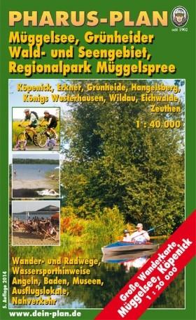 Freizeit- und Wanderkarte Regionalpark Müggelspree und Müggelsee