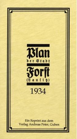 Stadtplan Forst (Lausitz) 1934