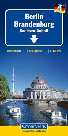 Straßenkarte Berlin - Brandenburg - Sachsen-Anhalt 1:275 000