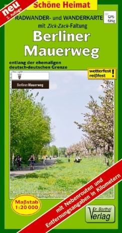 Vorderansicht der Rad- und Wanderkarte Berliner Mauerweg