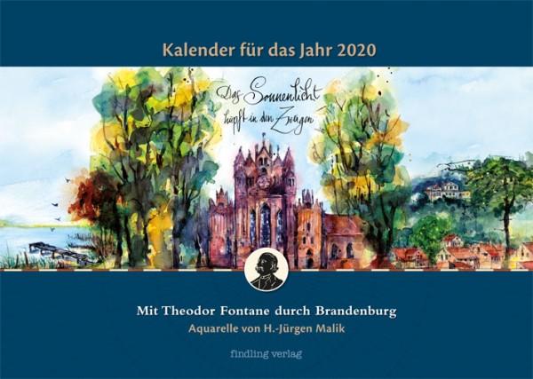 Mit Theodor Fontane durch Brandenburg. Kalender für 2020