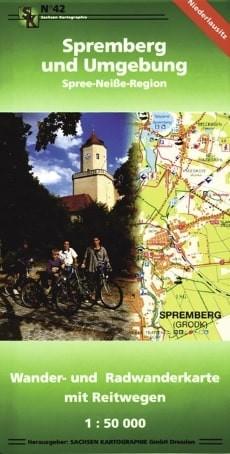 Rad- und Wanderkarte Spremberg und Umgebung