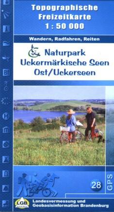 Top. Freizeitkarte Naturpark Uckermärkische Seen Ost / Uckerseen