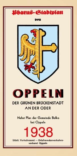 Pharus-Stadtplan von Oppeln 1938 (Reprint / Nachdruck)