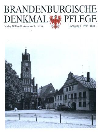 Brandenburgische Denkmalpflege 1992 - Heft 1