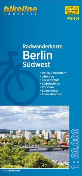 Radwanderkarte Berlin Südwest und Umland 1:60 000