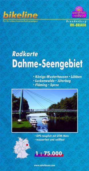 Radkarte Dahme-Seengebiet 1:75 000