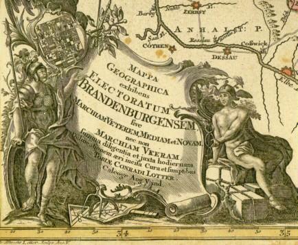 Geographische Karte des Kurfürstentums Brandenburg (1758)