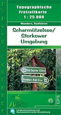 Topografische Freizeitkarte Scharmützelsee / Storkower Umgebung