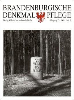 Brandenburgische Denkmalpflege 2003 - Heft 1