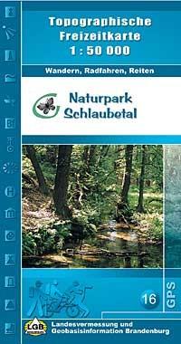 Topografische Freizeitkarte Naturpark Schlaubetal