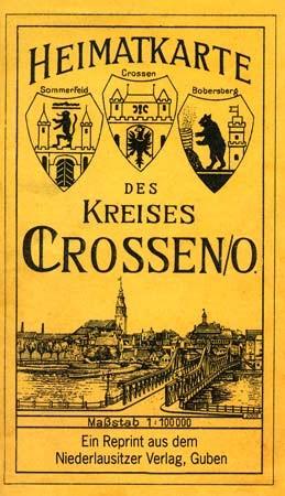 Heimatkarte des Kreises Crossen / Oder (1932)