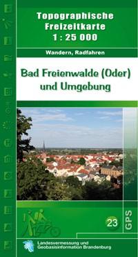 Topografische Freizeitkarte Bad Freienwalde und Umgebung