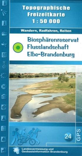 Top. Freizeitkarte Biosphärenreservat Flusslandschaft Elbe