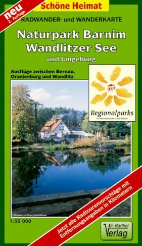 Rad- und Wanderkarte Naturpark Barnim, Wandlitzer See 1:35 000