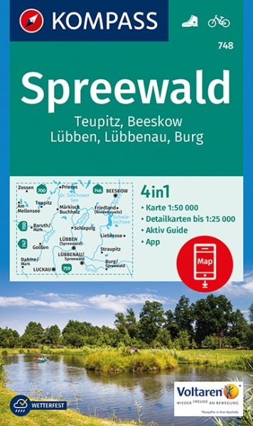 Wander- und Radkarte Spreewald