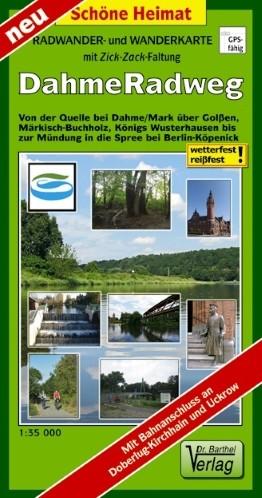 Dahme-Radweg - Rad- und Wanderkarte