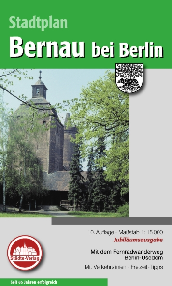 Stadtplan Bernau bei Berlin 1:15 000