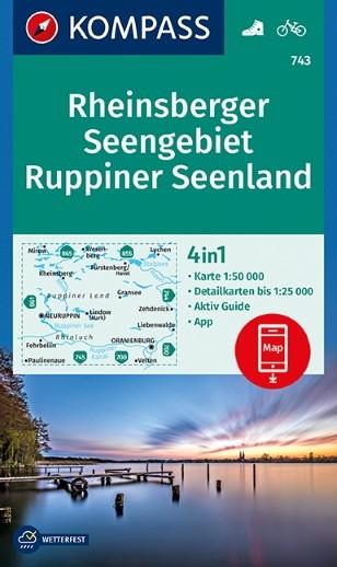 Wander- und Radkarte Rheinsberger Seengebiet - Ruppiner Seenland