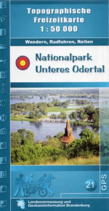 Topografische Freizeitkarte Nationalpark Unteres Odertal