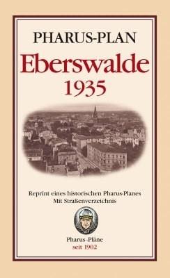 Pharus-Stadtplan Eberswalde 1935