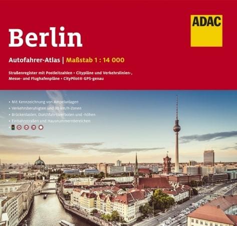 Berlin-Mitte mit Fernsehturm - Vorderansicht Autoatlas Berlin
