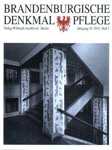 Brandenburgische Denkmalpflege 2010 - Heft 1